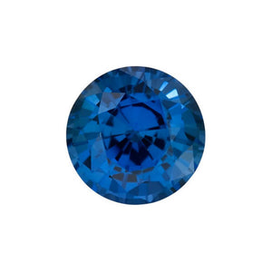 Charles & Colvard Loose Gems BRILLIANT ROUND CUT - Chatham Lab Grown Blue Sapphire Loose Gem