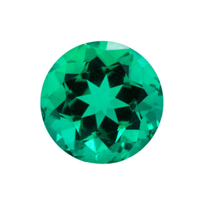 Chatham Lab Grown Emerald Brilliant Round