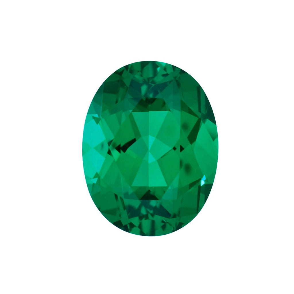 Chatham Lab Grown Emerald Loose Gems Oval Cut - Lily Arkwright