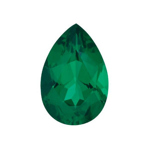 Charles & Colvard Loose Gems PEAR CUT - Chatham Lab Grown Emerald Loose Gem