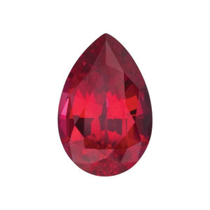 Charles & Colvard Loose Gems PEAR CUT - Chatham Lab Grown Ruby Loose Gem