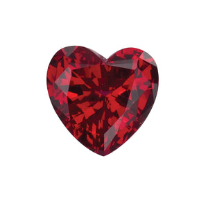 Chatham Lab Grown Ruby Loose Gems Heart Cut