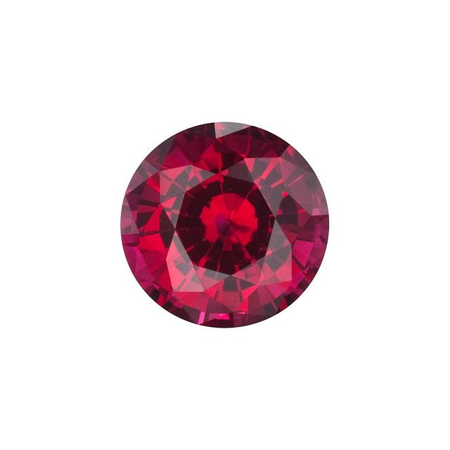 Chatham Lab Grown Ruby Loose Gems Brilliant Round Cut