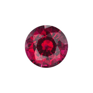 BRILLIANT ROUND CUT - Chatham Lab Grown Ruby Loose Gem