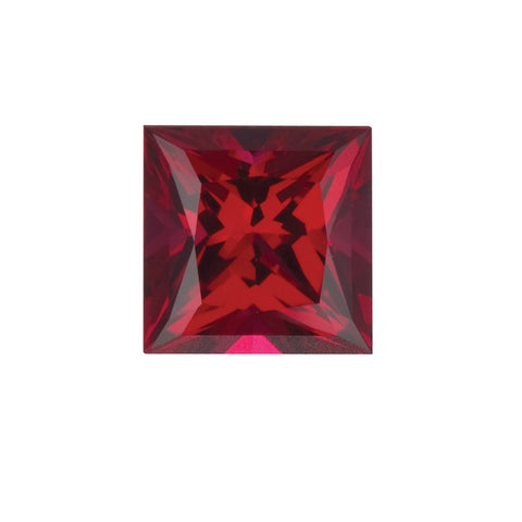 Chatham Lab Grown Ruby Loose Gems Square Cut