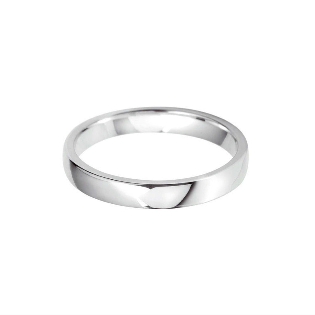 Plain Wedding Band Centre Cushion Profile Platinum