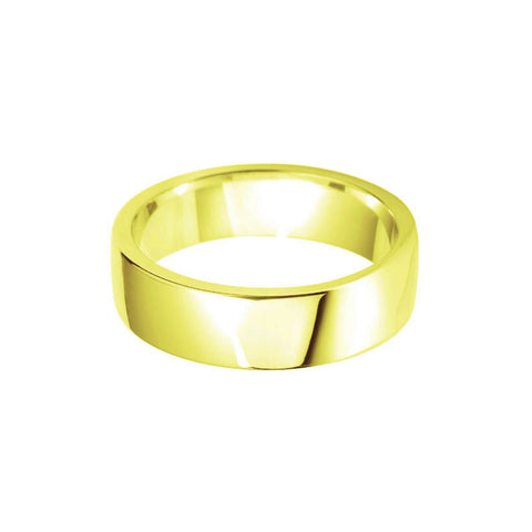 Plain Wedding Band Centre Cushion Profile 18k Yellow Gold