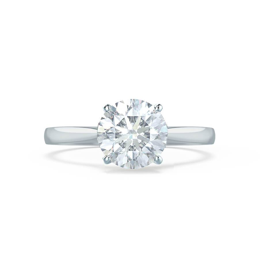 Cathedral 4 Prong Moissanite Engagement Ring White Gold 1ct