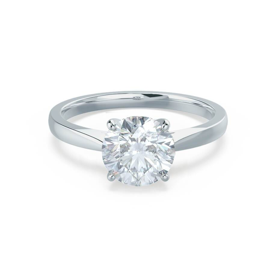 Cathedral Moissanite Engagement Ring White Gold 1ct
