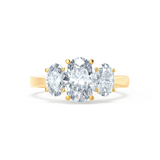 EVERDEEN - Oval Moissanite 18k Yellow Gold Trilogy Ring Engagement Ring Lily Arkwright