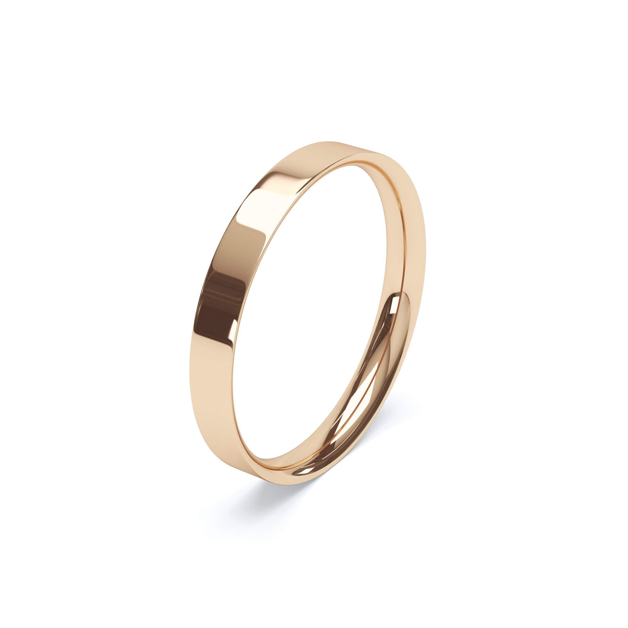 Lily Arkwright Wedding Bands Women's Plain Wedding Band Flat Court Profile 18k Rose Gold