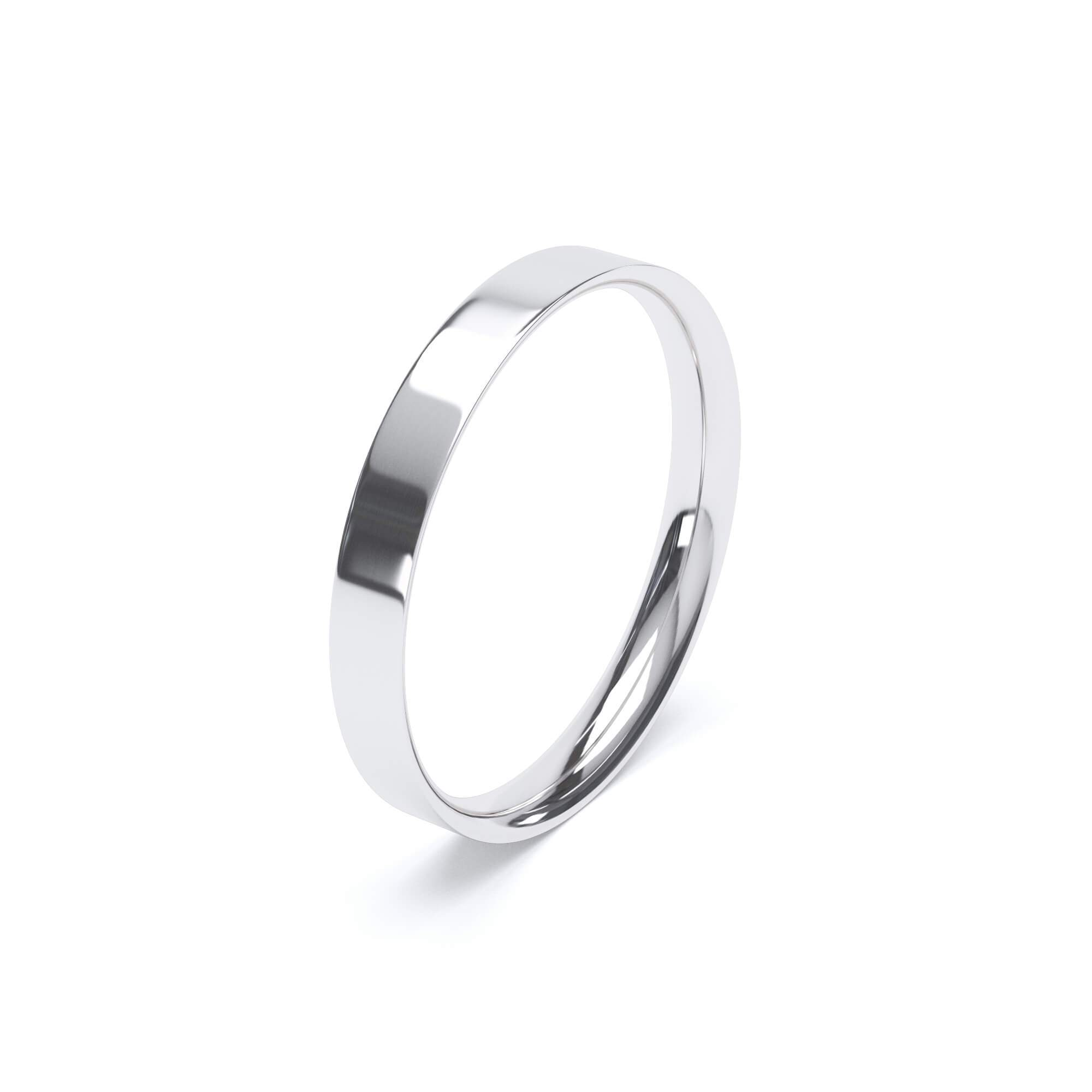 Lily Arkwright Wedding Bands Women's Plain Wedding Band Flat Court Profile Platinum