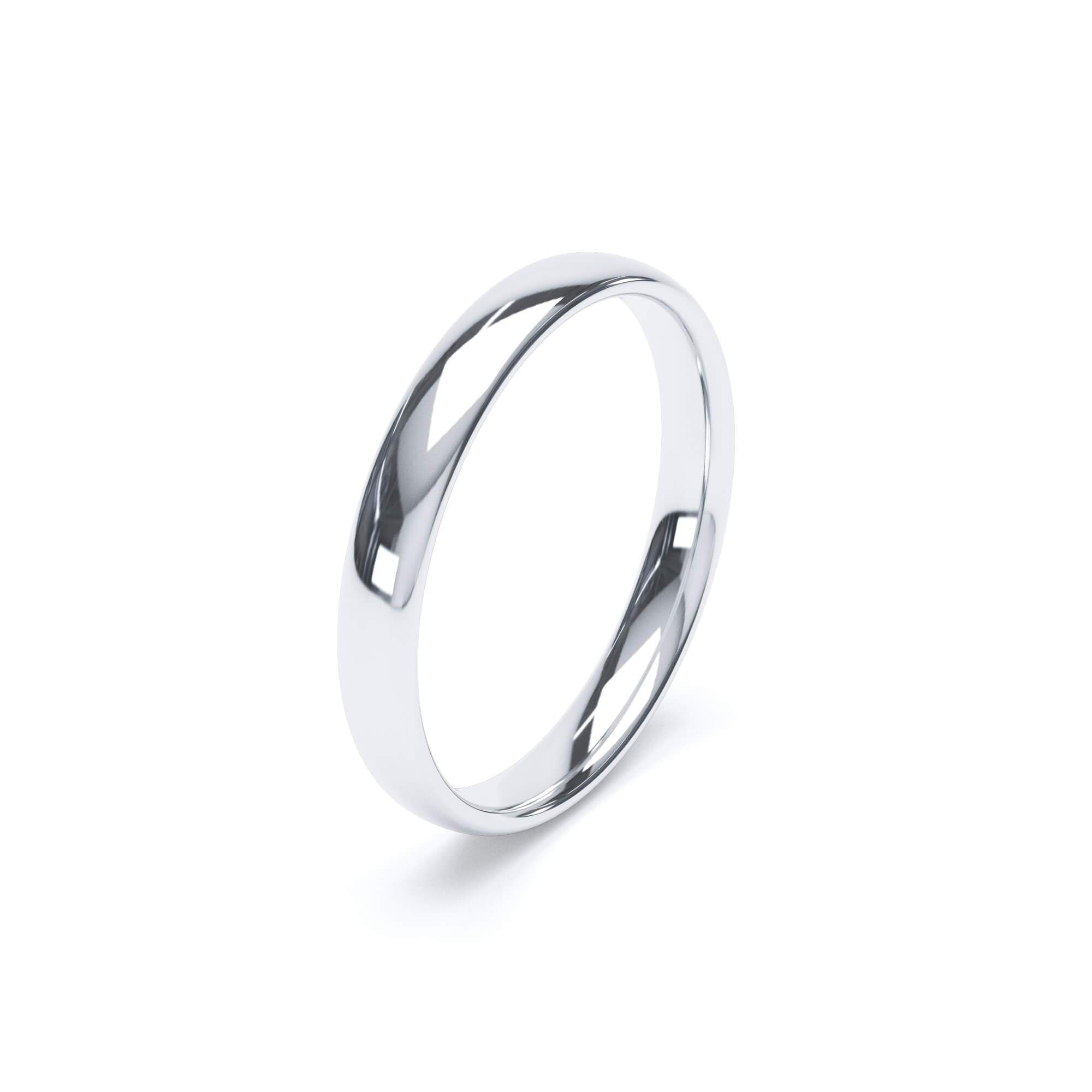Women's Plain Wedding Band Regular Court Profile Platinum Wedding Bands Lily Arkwright