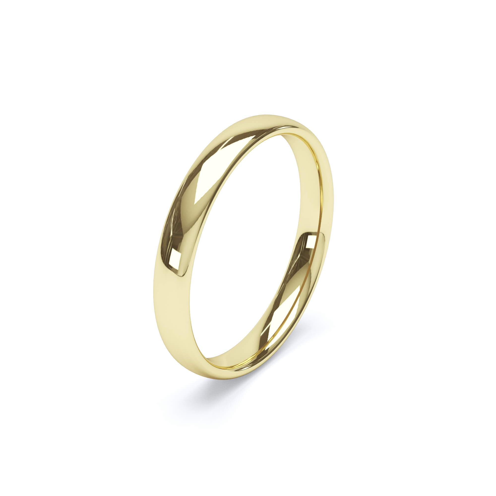 Women's Plain Wedding Band Regular Court Profile 18k Yellow Gold Wedding Bands Lily Arkwright