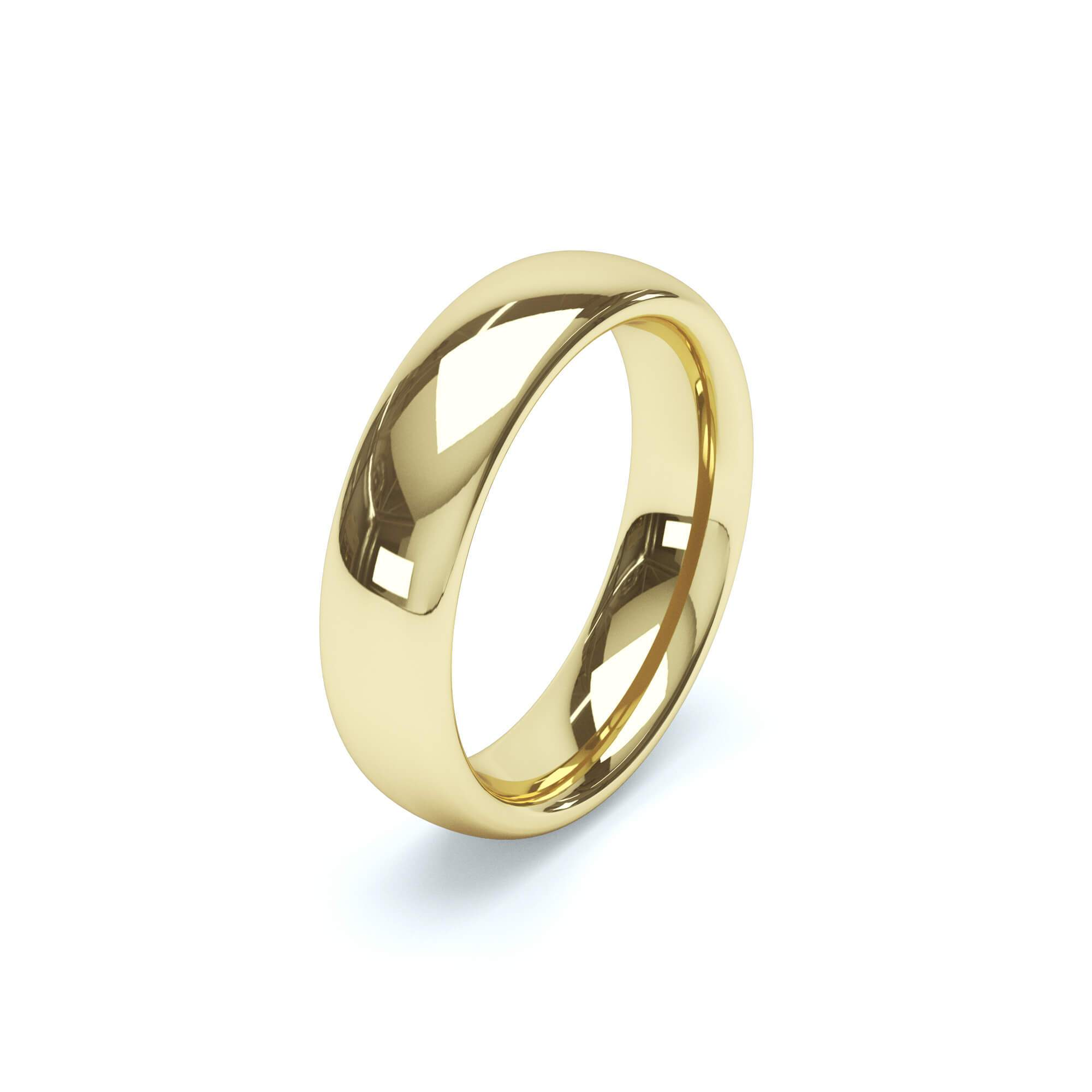 Plain Wedding Band Regular Court Profile 18k Yellow Gold Wedding Bands Lily Arkwright