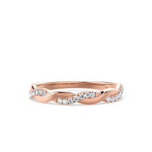 IVY - Diamond Pavé Set 18k Rose Gold Eternity Band Eternity Lily Arkwright
