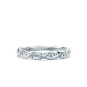 IVY - Diamond Pavé Set 18k White Gold Eternity Band Eternity Lily Arkwright