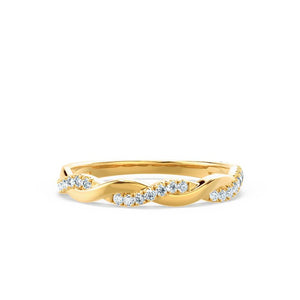 IVY - Diamond Pavé Set 18k Yellow Gold Eternity Ring