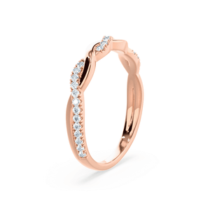 IVY - Diamond Pavé Set 18k Rose Gold Eternity Ring