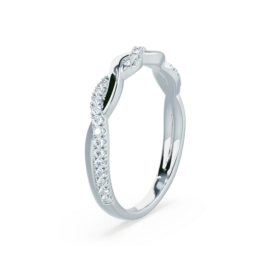 Lily Arkwright Eternity 0.20ct (Total Carat Weight) / Platinum IVY - Diamond Pavé Set Platinum Eternity Ring