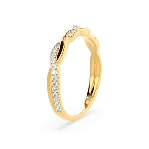 Ivy Diamond Pavé Set 18k Yellow Gold Eternity Ring