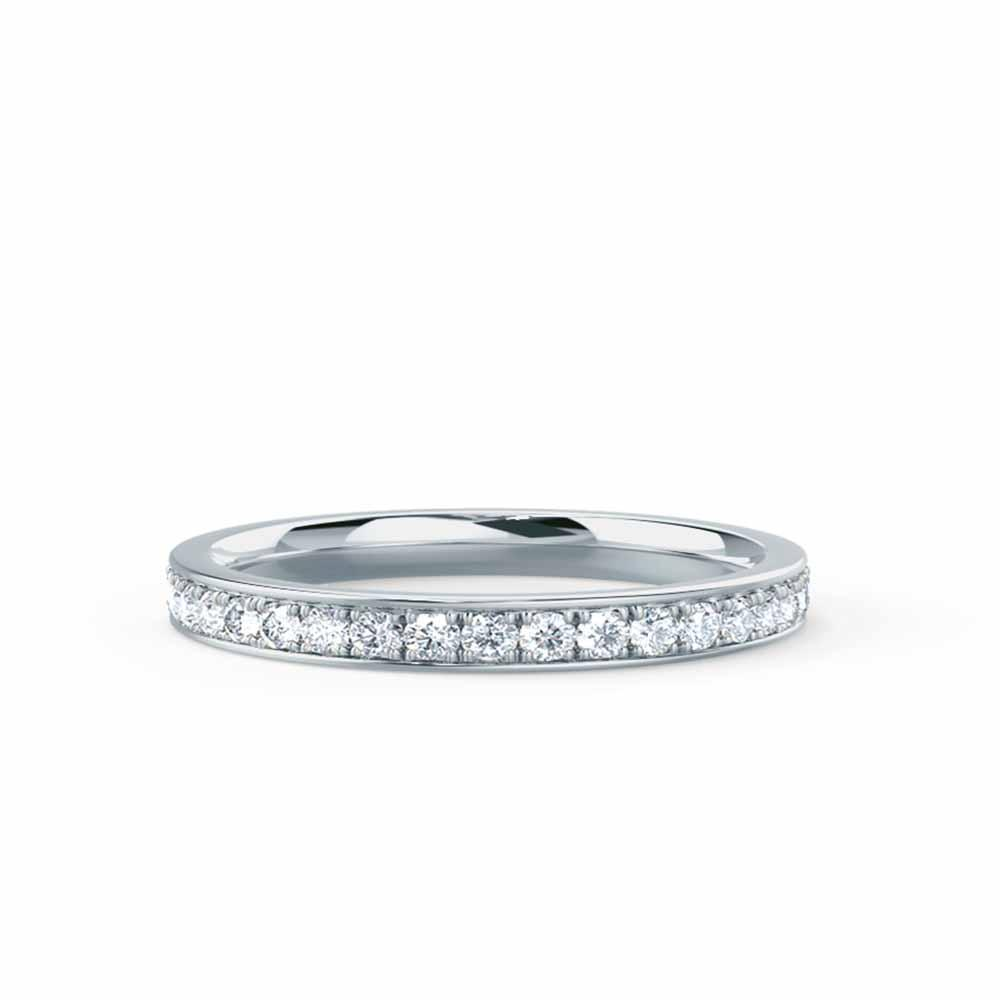 HARPER - Charles & Colvard Forever One Moissanite Channel Set 18k White Gold Eternity
