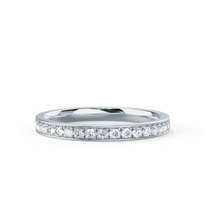 Lily Arkwright Eternity HARPER - Charles & Colvard Forever One Moissanite Channel Set 18k White Gold Eternity
