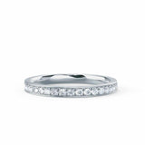 HARPER - Round Moissanite 18k White Gold Channel Set Eternity Band Eternity Lily Arkwright