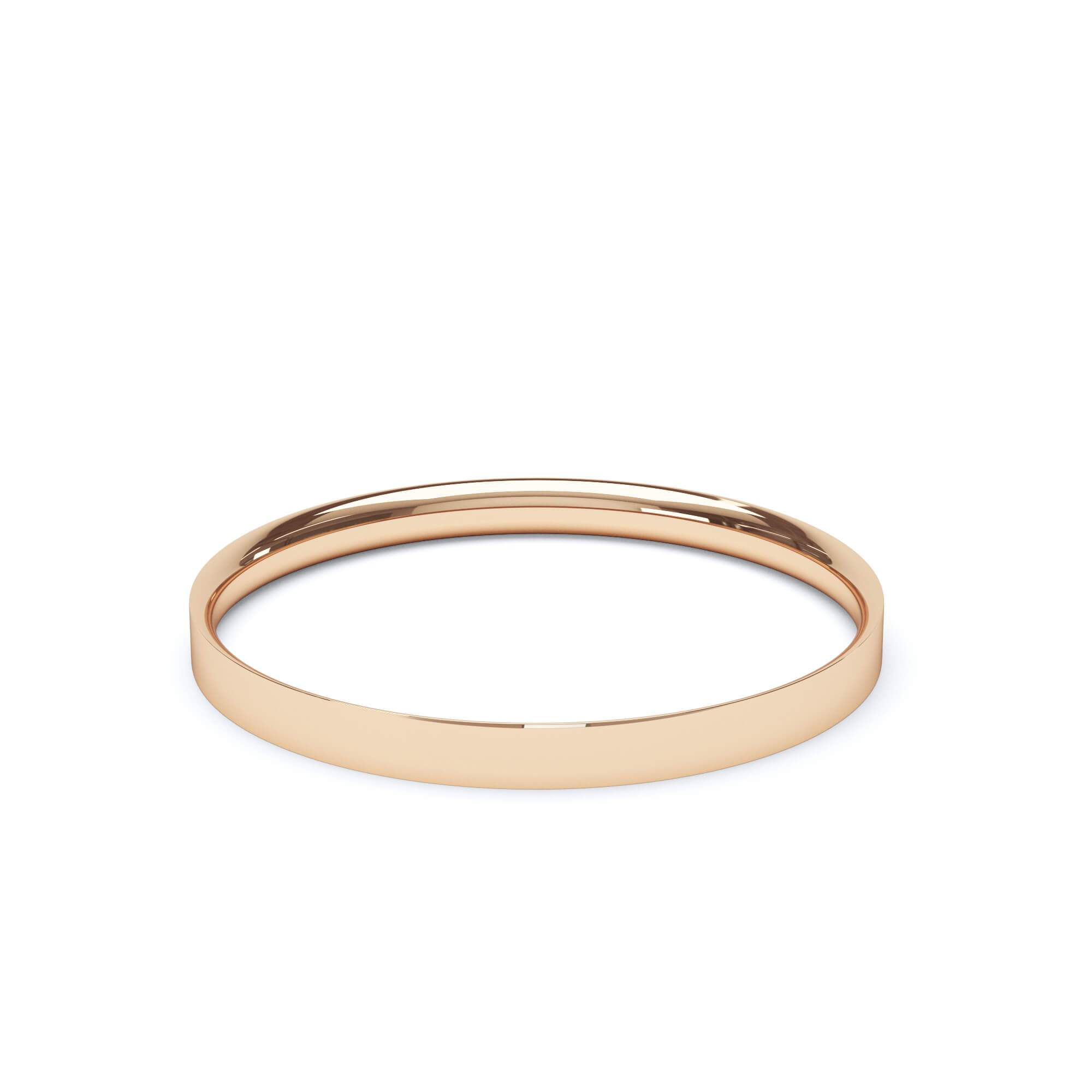 Lily Arkwright Wedding Bands 2.0mm / 18K Rose Gold Women's Plain Wedding Band Flat Court Profile 18k Rose Gold