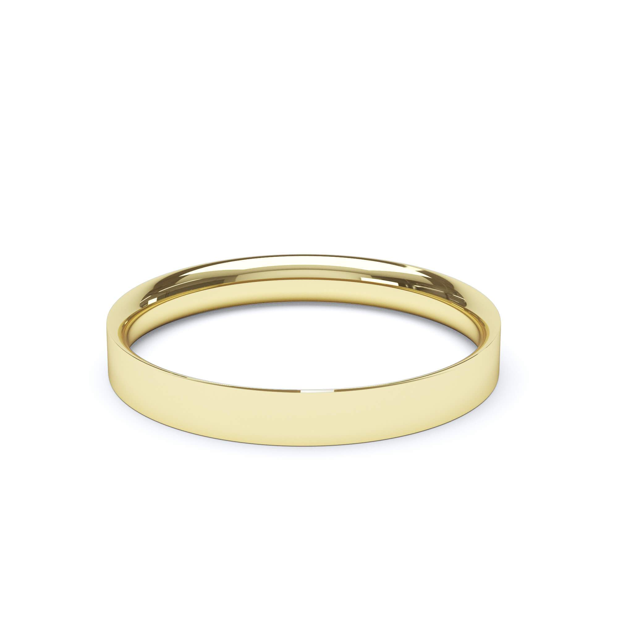 Lily Arkwright Wedding Bands 3.0mm / 18K Yellow Gold Women's of Plain Wedding Band Flat Court Profile 18k Yellow Gold