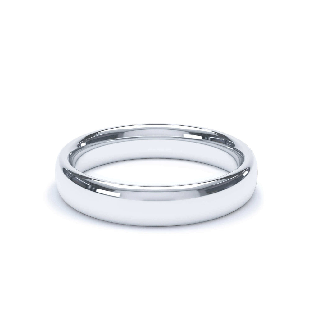Plain Wedding Band Regular Court Profile Platinum