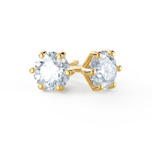 Lily Arkwright Earrings ELOISE - Moissanite 18k Yellow Gold Stud Earrings