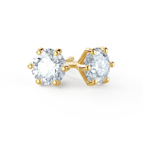 Moissanite Studs in Yellow Gold by Lily Arkwright