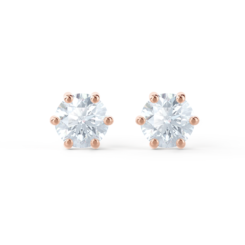 Charles and Colvard Moissanite Stud Earrings by Lily Arkwright UK