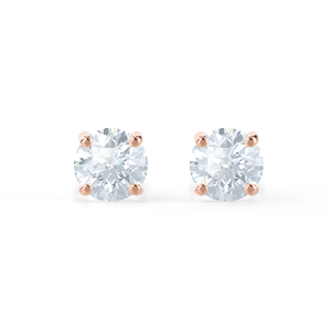 SENA - Round Moissanite 18k Rose Gold Stud Earrings Earrings Lily Arkwright