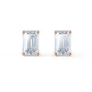 emerald cut moissanite earrings