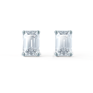 Emerald moissanite stud earrings