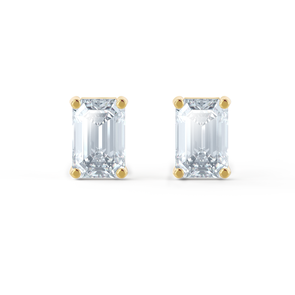 moissanite stud earrings yellow gold