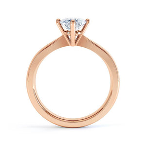 Lily Arkwright Engagement Ring ADORA - Charles & Colvard Moissanite 18k Rose Gold Solitaire