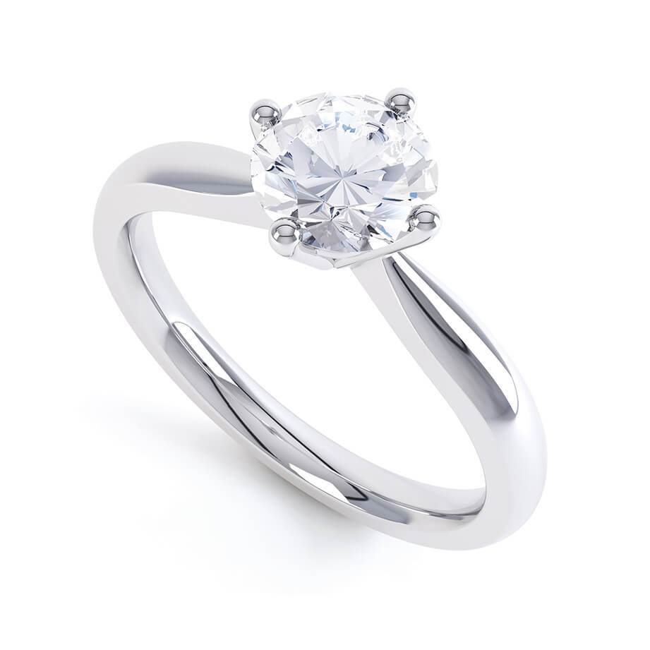 Lily Arkwright Engagement Ring ADORA - Charles & Colvard Moissanite Platinum Solitaire