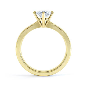 Lily Arkwright Engagement Ring ADORA - Charles & Colvard Moissanite 18k Yellow Gold Solitaire