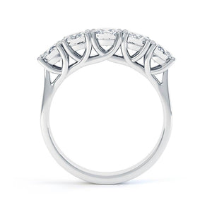 Amabel Charles & Colvard Moissanite Platinum Five Stone Eternity Ring