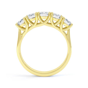 Lily Arkwright Engagement Ring AMABEL - Charles & Colvard Moissanite 18k Yellow Gold Five Stone Eternity Ring