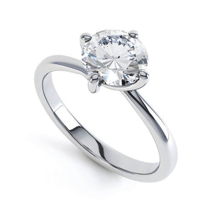 Lily Arkwright Engagement Ring ANNORA - Certified Lab Diamond Twist 4 Claw Solitaire
