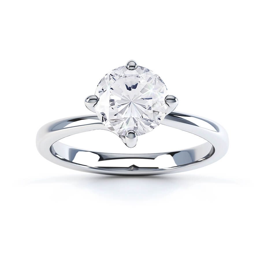 ANNORA - Moissanite Twist Platinum Solitaire