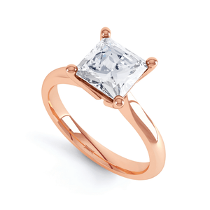 ARABELLA - Princess Moissanite 18k Rose Gold Solitaire Ring Engagement Ring Lily Arkwright