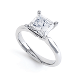 ARABELLA - Princess Moissanite 950 Platinum Solitaire Ring Engagement Ring Lily Arkwright