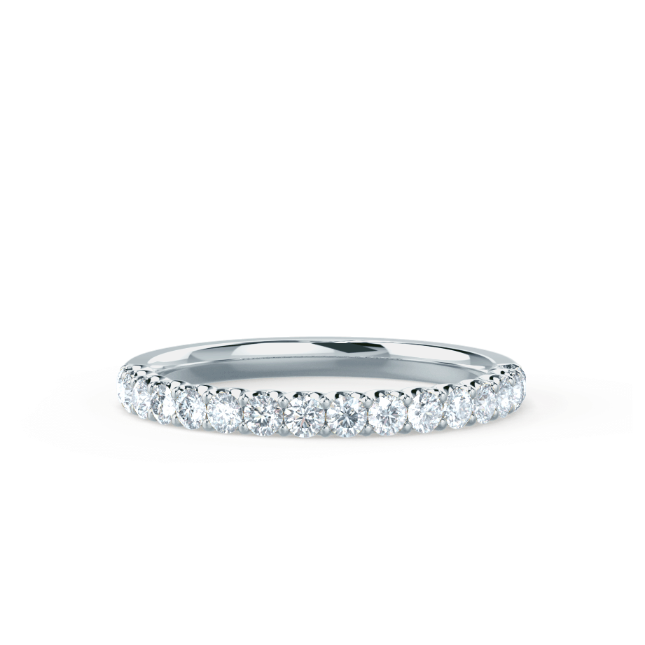 AURELIA -  Charles & Colvard Forever One Moissanite Pavé 18k White Gold Eternity Band