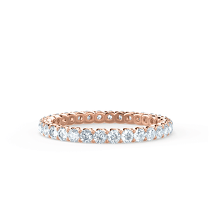 Lily Arkwright Eternity AURELIA - Charles & Colvard Forever One Moissanite Pavé 18k Rose Gold Eternity Band
