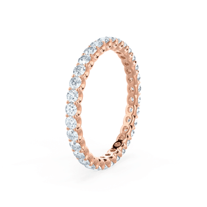 Aurelia Charles & Colvard Forever One Moissanite Pavé 18k Rose Gold Eternity Band